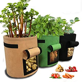 Plant Growth Bags Nonwoven Cloth Pot Gardening Bag Vegetable Potato Planter Bag