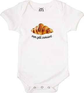 Mon Petit Croissant Organic Cotton Baby Bodysuit