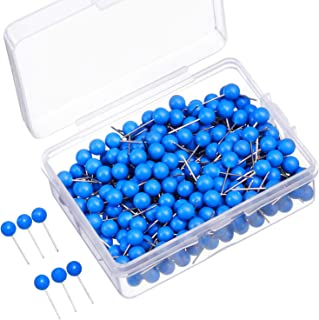 500 Pack Map Push Pins Map Tacks Small Size (Blue, 1/8 Inch)
