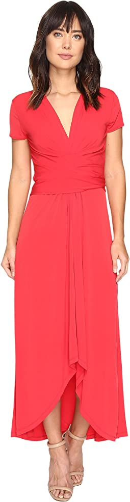 Short Sleeve Maxi Wrap Dress