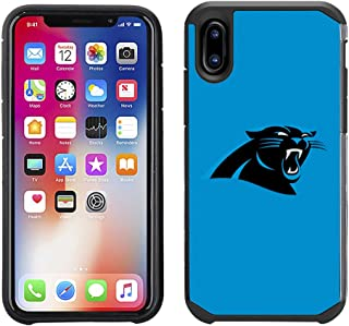 Prime Brands Group Cell Phone Case for Apple iPhone X - NFL Licensed Carolina Panthers Textured Solid Color