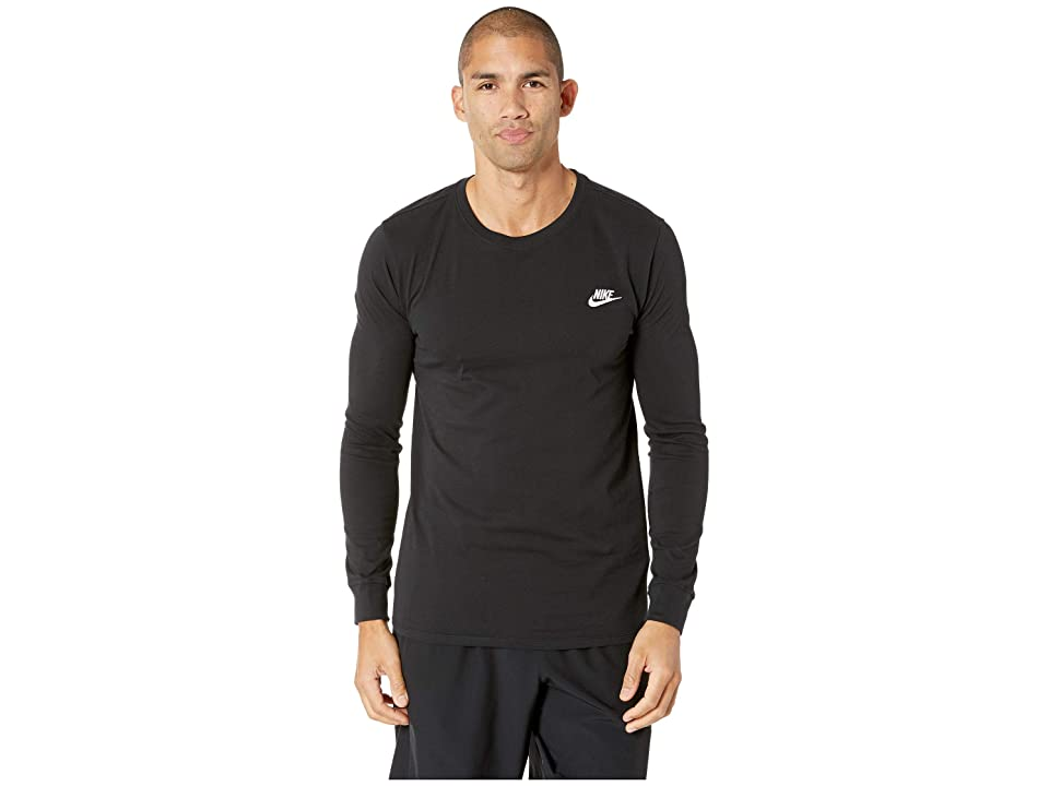 Nike NSW Tee Long Sleeve Embroided Futura (Black/White) Men