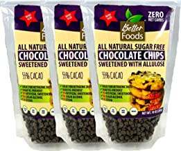 Sugar Free Mini Chocolate Chips Sweetened With Allulose (Keto, 0 Net Carbs, Great for Diabetics, No Artificial Sweeteners,...