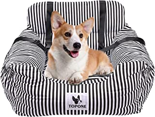 Dog Car Seat,Pet Car Booster Seats Carrier with Washable Cover &Mat,Double Sided Cushion, Storage Pocke, Safety Leash for Small and Medium Pets Cat Up to 30 Lbs