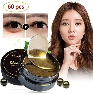 Korean 60 psc Black Gold Pearl Collagen Eye Patch   Anti Wrinkle Eye Mask Gel Sleep Mask Dark Circles Under Eye Bags Treatment   All-Natural Eye Care Gel for Women and Men eye-pad