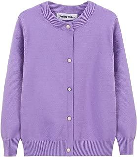 purple knitted school cardigan