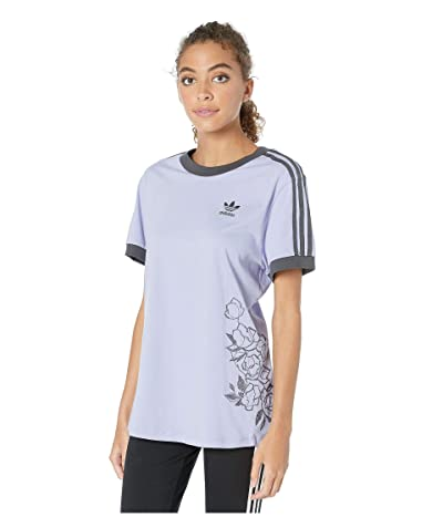 adidas Originals 3-Stripes Tee (Dust Purple) Women