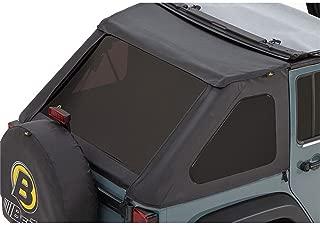 Bestop 58223-35 Black Diamond Tinted Window Kit for Trektop NX for2007-2018 Wrangler Unlimited