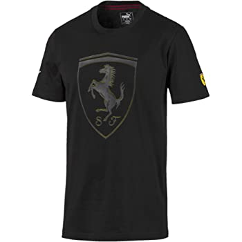 PUMA Men's Scuderia Ferrari BIG SHIELD TEE, Black, S