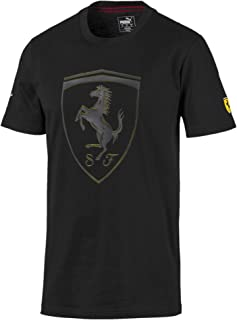 PUMA Men's Scuderia Ferrari BIG SHIELD TEE, Black, S