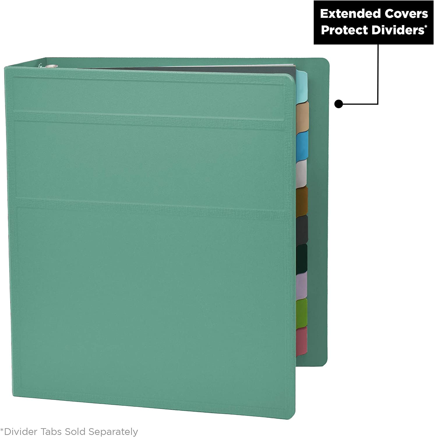 Inch Heavy Duty 3-Ring Binder Side Opening Ash Gray Carstens 3