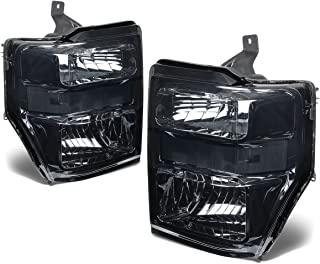 For Ford Super Duty 2nd Gen F250-550 Pair OE Style Smoked Lens Clear Corner Headlight Lamp