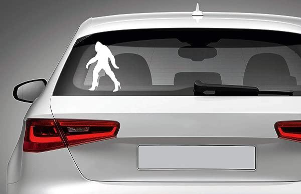 高跟鞋的大脚怪模切乙烯基贴花汽车笔记本电脑 MacBook 手机卡车保险杠窗户墙壁浴室卧室门贴