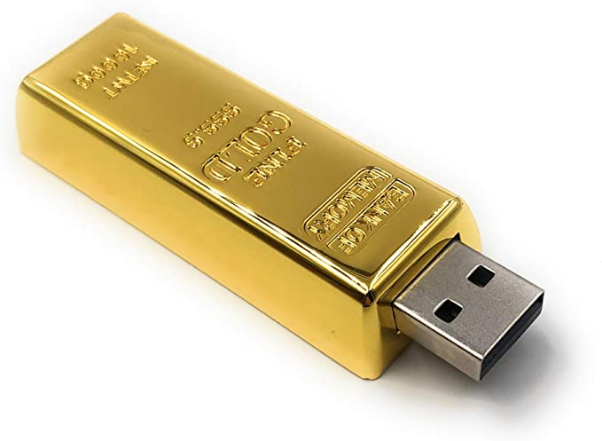 Onlineworld2013 Goldbarren Edel Aus Metall Funny Usb Stick 8 Gb Usb 2 0