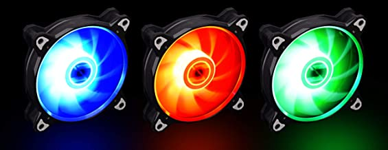 LIAN LI BORA LITE Series BORALITE120-3B RGB 120mm LED PWM Fans with Black Frame (LEDs Powered by Motherboard 4 PIN Headers. No LEDs Controller Included) - 3 Pack (1Year Warranty)