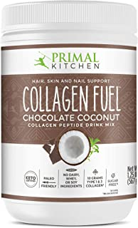 Primal Kitchen Collagen Fuel Protein Mix, Chocolate Coconut, Non-Dairy Coffee Creamer & Smoothie Booster- Supports Healthy...