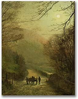 Forge Valley Scarborough Artwork by John Grimshaw, 35x47-Inch Canvas Wall Art