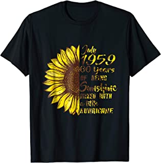 July 1959 T Shirt 60th Sunflower Birthday Gifts T-Shirt