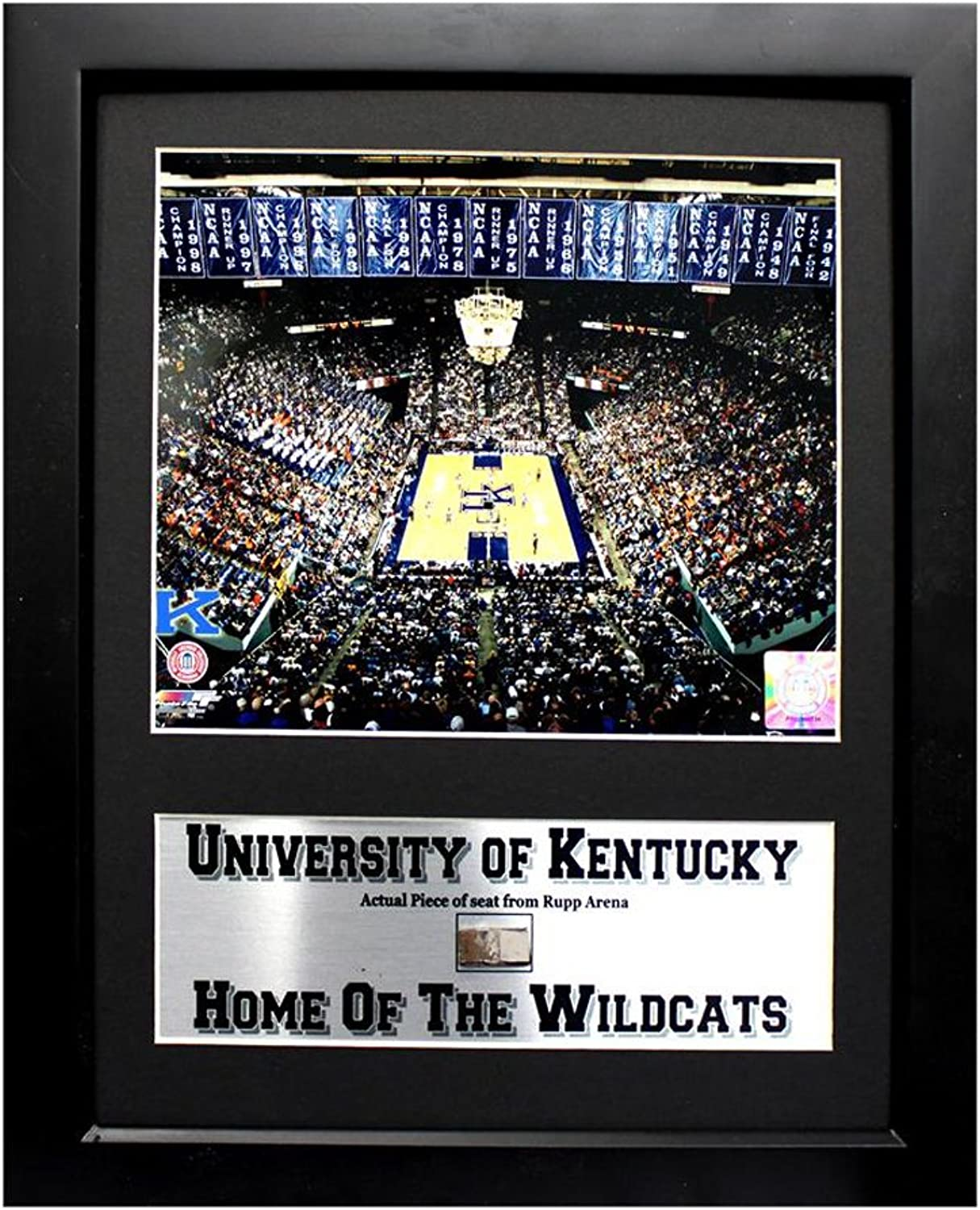 Encore Select 13406 NCAA Kentucky University Deluxe Frame Home of The Wildcats Print and Rupp Arena Piece, 12Inch by 18Inch