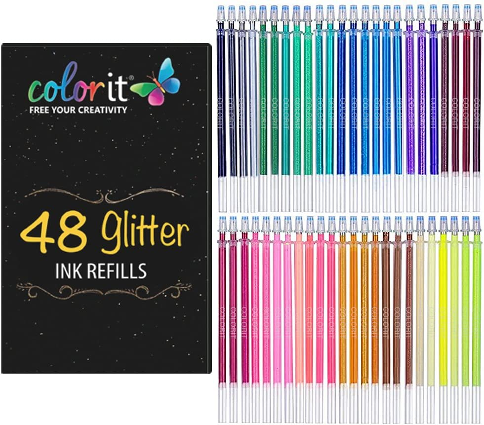 ColorIt 48 Glitter 5 popular Ranking TOP16 Color Ink Refills - to Cartridge Easy Replace