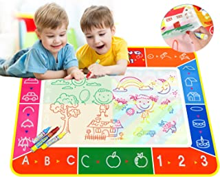 Gutsbox Magic Doodle mata do nauki kolorowania, 27,6 x 9,4 cm, z 3 długopisami, duża zabawka edukacyjna, Magic Mats dla ma...
