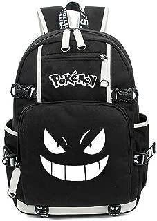 AUGYUESS Luminous Korean Canvas School Bag Rucksack Daypack Bookbag Laptop Bag Backpack