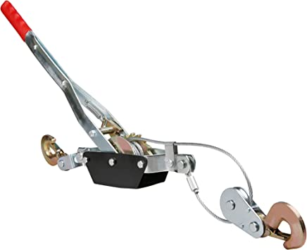 Denveo Heavy Duty Single(1) Gear Hand Puller with Cable Rope. 2 Hooks with Single Ratchet Wheel 2 Ton Capacity
