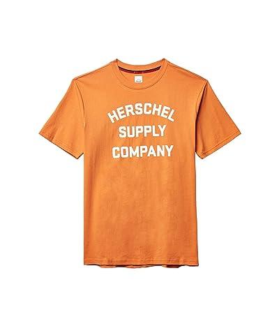 Herschel Supply Co. Tee (Stacked Chest Logo Papaya/White) Men