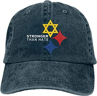 Stronger Than Hate Pittsburgh Denim Dad Cap Baseball Hat Adjustable Sun Cap