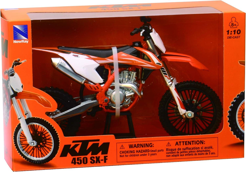 Motocross Moto Suzuki RMZ 450 échelle 1:12 modèle de la moto New Ray Toys
