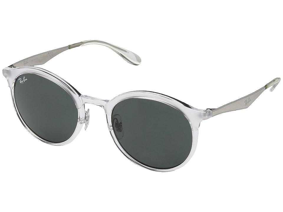 Ray-Ban RB4277 Emma 51mm (Transparent/Dark Green) Fashion Sunglasses