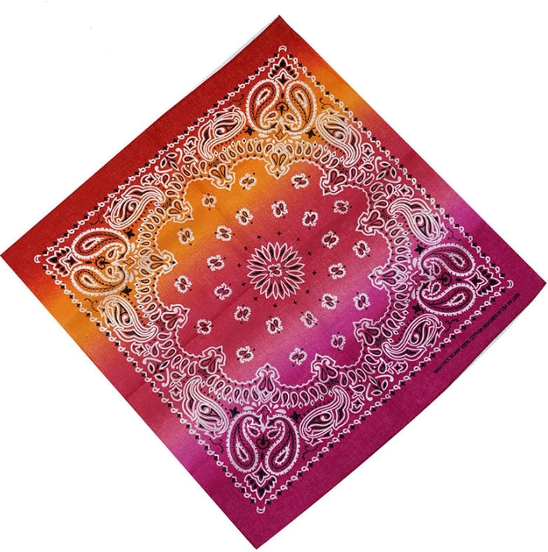 HJJACS Colorful Handkerchief Max 90% OFF Tie-Dye Bandanas Max 60% OFF Women Necke Ladies