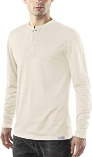 Woolly Clothing Men's Merino Wool Long Sleeve Henley - Everyday Weight - Wicking Breathable Anti-Odor