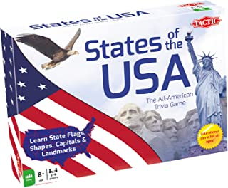 Tactic Games US States of The USA Trivia Board Game (9 Player)