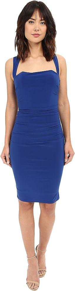 X-Back Jersey Cocktail Dress