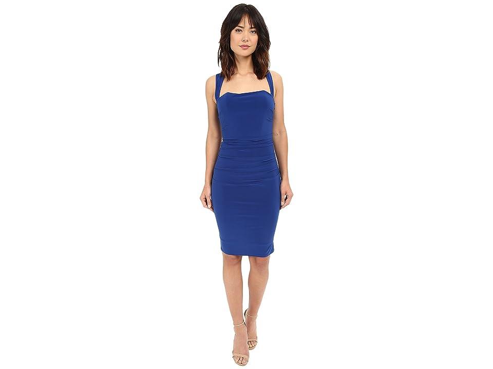 Laundry by Shelli Segal X-Back Jersey Cocktail Dress (Blue Beret) Women