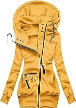 $27 » Letdown Accessories Women Waterproof Jacket Drawstring Hooded Winter Slim Fit Jackets Full Zip Insulated Fleece Parka Soli...