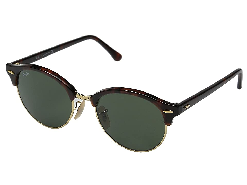 Ray-Ban RB4246 51mm (Red Havana Frame/Green Lens) Fashion Sunglasses