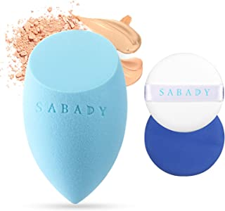 SABADY MAKEUP Beauty Sponge With Air Cushion Puff, Breathable,Durable,Soft,Latex-free Blending Sponge,Cushion compact Puff Perfect for Foundation,Concealer,Powder,Cream,Sensitive and All Skin Types