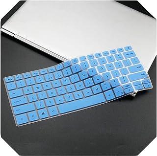 For Dell Inspiron 13 5390 5391 7390 7391 14 5000 5490 5493 5498 7490、Vostro 13 5390 5391 5490シリコンラップトップキーボードカバースキン-blue-