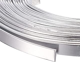 Kissitty 5 Rolls 5mm Wide Flat Jewelry Artistic Aluminum Wire Silver 18 Gauge About 6.5 Feet/Roll