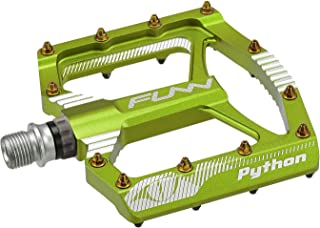 Funn Python Flat Mountain Bike Pedal Set - Wide Platform BMX Bicycle Pedals, 9/16-inch CrMo Axle