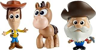 Toy Story Disney/Pixar Minis Prospector Quick-Draw Woody & Bullseye Figure (3 Pack), 2