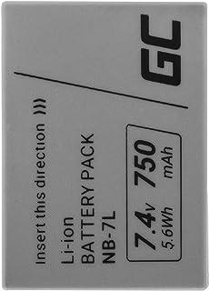 Green Cell® NB-7L NB7L CB-2LZE 315B001 Batería para Canon PowerShot G10 G11 G12 SX30 is CB-2LZ Cámara La batería Full Decoded (Li-Ion Celdas 750mAh 7.4V)
