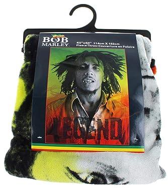 Bob Marley Legend Lightweight Fleece Throw Blanket   45 x 60 Inches