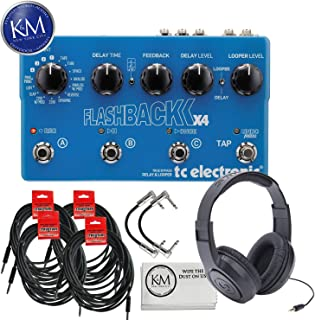 TC-Electronic Flashback X4 + (4) Instrument Cables + (2) Patch Cables + Samson SR350 Headphones