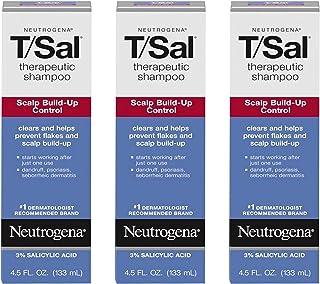 شامپو درمانی Neutrogena T/Sal برای کنترل تجمع پوست سر با 3٪ اسید سالیسیلیک ، درمان شوره سر ، پسوریازیس