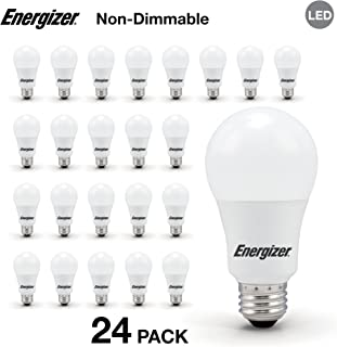 Energizer A19 60 Watt Equivalent LED Light Bulb (Non-Dimmable), 24-Pack, Daylight