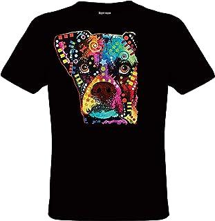 e321acd4b69c3 DarkArt-Designs Mode de Vie T-Shirt Boxer - Motif de Chiens T-