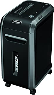Fellowes Powershred 90S 18-Sheet Strip-Cut Paper and Credit Card Shredder with Auto Reverse (4690001),Black/gray